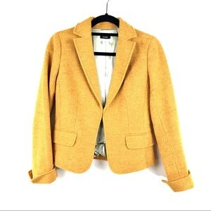 J. Crew Sz 2 Blazer Jacket Marigold Yellow Orange